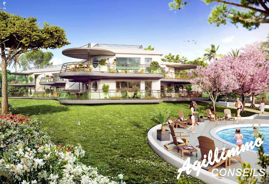 Real estate new in border at golf - French Riviera
